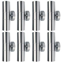 10pcs Outdoor Wall Light Stainless Steel Sconce Waterproof U