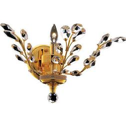 "1 LIGHT 16"" GOLD CRYSTAL LEAF DINING LIVING ROOM BEDROOM BAT"