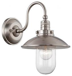 Minka Lavery 71162-84 1-Light Brushed Nickel Wall Sconce