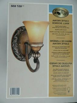 1-Light Caffe Patina Wall Sconce Caffe Patina