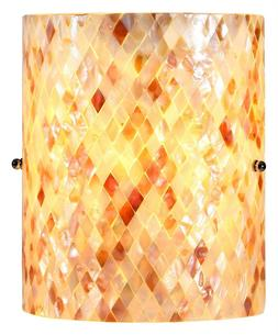 1-Light Mosaic Wall Sconce in Black