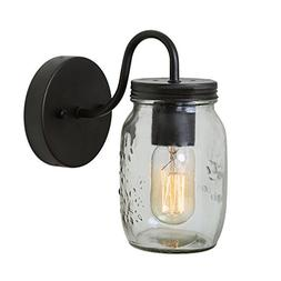 LNC 1-light Wall Sconce Glass Jar Wall Sconces Mason Jar Wal