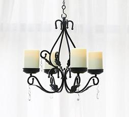 GiveU 3 IN 1 Lighting Chandelier, Metal Wall Sconce Set of 2