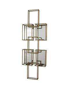 Sagebrook Home 12232 Metal Wall Sconce Candle Holder, Gold M