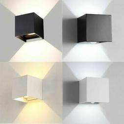 12W Modern COB LED Wall Light Up Down Cube Indoor Outdoor La