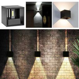 12W Modern LED COB Wall Light Up Down Cube Sconce Lamp Fixtu