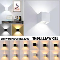 12W Modern LED Wall Light Up Down Cube Indoor Outdoor Sconce