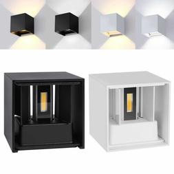 12W Waterproof Dimmable Modern Cube Wall Light Led Sconce Up
