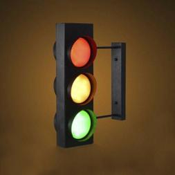 18'' Vintage Style Traffic Light LED Wall Lighting Sconce wi