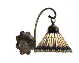 "Meyda Tiffany 18525 Jeweled Peacock Wall Sconce, 8"" Width"