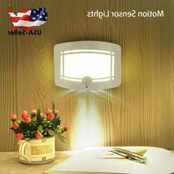1PC Wireless LED Night Wall Mount Lamp Motion Sensor Battery