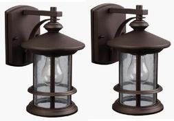 2 Pack Bronze Outdoor Wall Mount Lantern Lights Exterior Sco