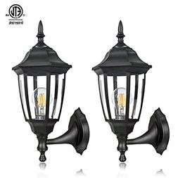 2 PACK EXTERIOR WALL LED LIGHTS OUTDOOR GARAGE SCONCE LANTER