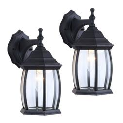 2 Pack Outdoor Exterior Lantern Light Fixture Wall Mount Sco