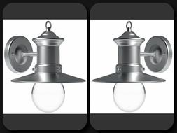 2 Pack Outdoor Wall Light Fixture Sconce Vintage Industrial