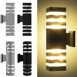 LED Modern Exterior Wall Light Sconce Dual Head Wall Lamp Up