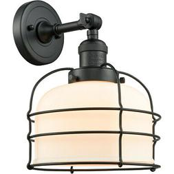 Innovations Lighting 203-BK-G71-CE-LED Large Bell Cage Wall