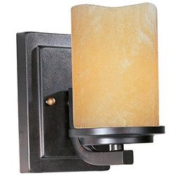 Maxim 21141SCRE, Luminous, 1-Light Wall Sconce, Rustic Ebony