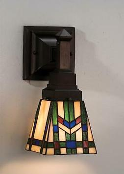 25894 stained glass tiffany down lighting wall