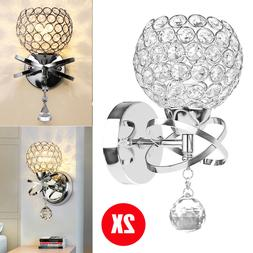 2pcs modern wall light led crystal sconce