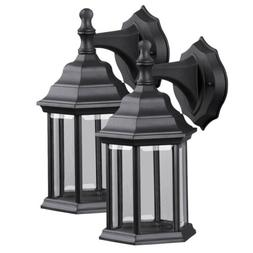 2pcs Retro Exterior Wall Light Fixture Outdoor Lantern Sconc