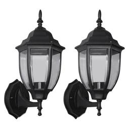 2X Outdoor Exterior Wall Lantern Lamp Light Fixture Sconce T