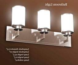 3 Light Bathroom Vanity Wall Lighting Fixture LED Sconce Bru