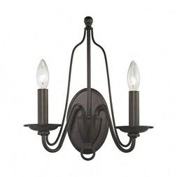 Elk Lighting 32160/2 2 Light Double Wall Sconce - Bronze