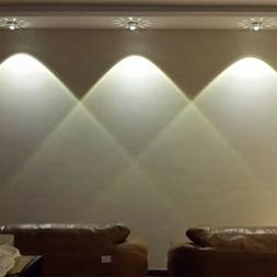 3W Colorful Dimmable LED Light Lamp Spotlights Wall Sconce f
