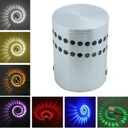 3W RGB LED Spiral Wall Lamp Wireless Sconce Wall Lights Home