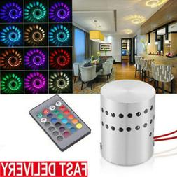 3W RGB Spiral LED Wall Sconce Ceiling Light Walkway Bedroom