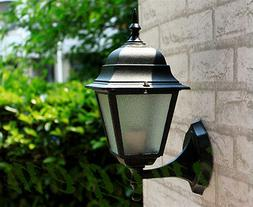 4 Sided Vintage Exterior Outdoor Wall Lamp Sconce Lantern Li