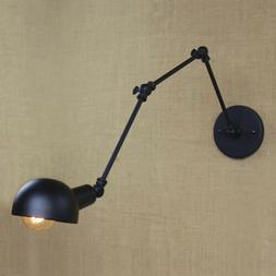 4'' Wide Anqique Swing Arm Adjustable Pewters Wall Light Bow