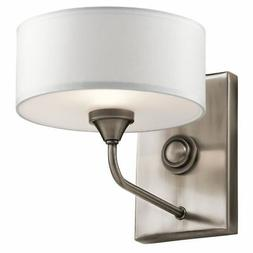 Kichler 43843CLP Lucille 1 Light Wall Sconce Fabric Shade, C