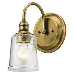 Kichler Lighting 45745NBR Waverly Wall Sconce Natural Brass