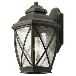 """Kichler 49841  Tangier 1 Light 13.5"""" High Outdoor Wall Sconc"""