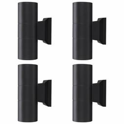 4Pcs Modern Dual Head LED Wall Light Sconce Exterior Outdoor
