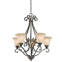 Kichler Lighting 43224OZ 5-Light Chandelier with White Scavo