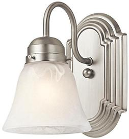 Kichler 5334NI, New Street 1-Light Wall Sconce, Brushed Nick