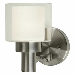 """Forte Lighting 5691-01 Single Light 8"""" Tall Wall Sconce with"""