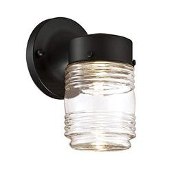 Design House 587246 Jelly Jar Indoor/Outdoor LED Wall Light,