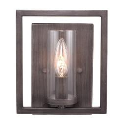 Golden Lighting 60681WGMT  Sconce with Clear Glass Shades,