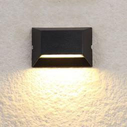 6W COB LED Outdoor Wall Sconce Step Light Lamp Fixture Water