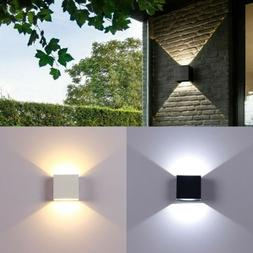 6W Modern COB LED Wall Light Up Down Cube Indoor Outdoor Sco