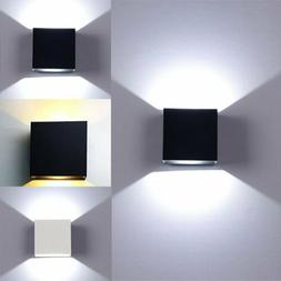 6W Modern LED COB Wall Light Up Down Cube Sconce Lamp Fixtur