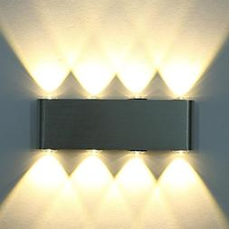 Deckey 8 LED High Power Up Down Wall Lamp Spot Light Sconce