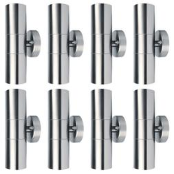 8 Stainless Steel Outdoor Wall Sconce Landscape Walkway Porc
