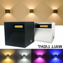 9W Modern LED Night Light Exterior Up Down Cube Wall Sconce