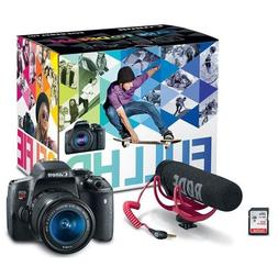 Canon EOS Rebel T6i Video Creator Kit with 18-55mm Lens, Rod