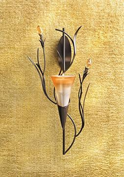 Dawn Lily Candle Holder Home Accent Decor Wall Sconce